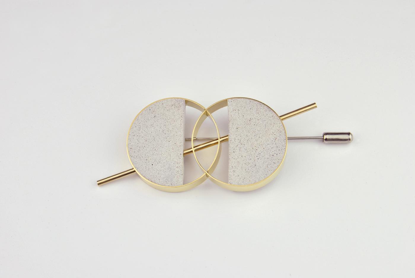 103BI/D - ottone placcato oro/micro inerti